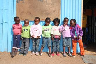 セチャバセンターの就学前の子供たち