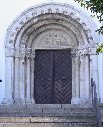 Portal der Mallersdorfer Pfarrkirche