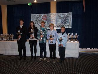 Die Sieger der NFM Meisterschaft 2011 (rechts: K1 Niedersachsenmeister Jarno Seekamp)