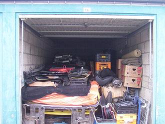 garage box met onderdelen