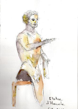 Statue d'Hercule unijambiste