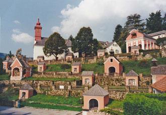 Blick auf den Kalvarienberg St. Radegund