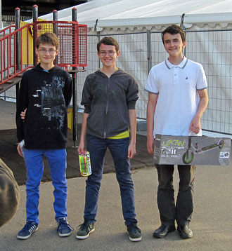 Platz1 Lukas Meier, Platz2 Benjamin Brandis, Platz3 Jan Selinga