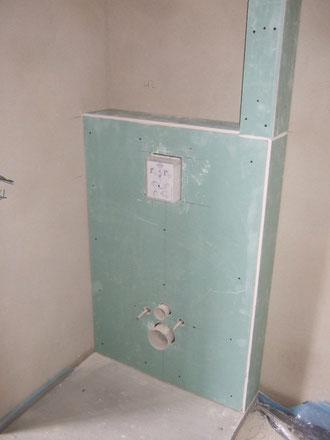Abkastung WC im Gäste-Bad