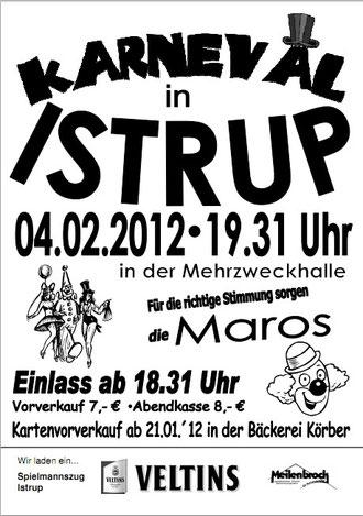 Karneval-Plakat vom Spielmannzug Istrup