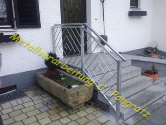 Treppengeländer Stahl verzinktg
