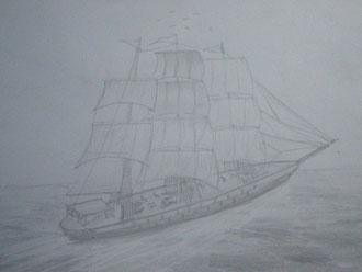 意外と簡単帆船の書き方入門 多国籍侍