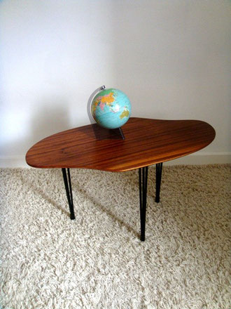 table basse tripode forme palette