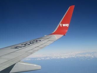 韓国の格安航空 Tway で。