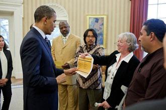 Barack Obama und Ursula Sladek