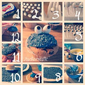 """Krümelmonster-Muffins,....das """"Must have"""" auf jedem Kindergeburtstag!"""