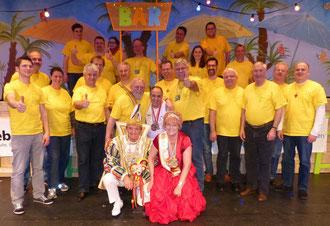 """Die """"Froschbacher Samba-Band"""" mit """"Seiner Totalität Prinz Mike I. & Ihrer Lieblichkeit Prinzessin Rosie I."""" sowie WCC-Präsident Bernd Rehberger - Hier gehts zu den Bildern"""