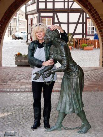 Grete Minde und ich in Tangermünde Herbst 2011