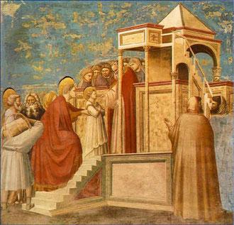 Darstellung Maria im Tempel, GIOTTO Cappella degli Scrovegni
