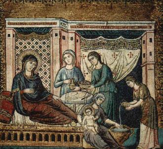 Geburt Maria 13. Jhd Santa Maria in Trastevere Rom