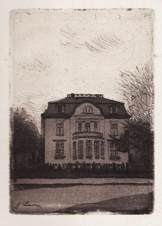 Gertrud Simms, Heilwigstraße 29, Radierung, 1907