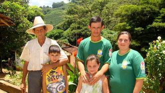 José Antonio Faconi und Familie