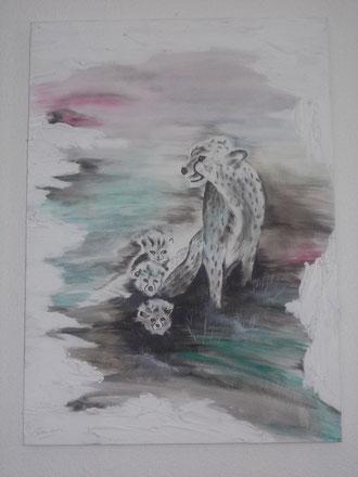 Gepard mit Jungen 16a
