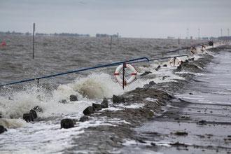 Die Sehestedter Küste bei Regen und Sturm, Foto S. Lorenz