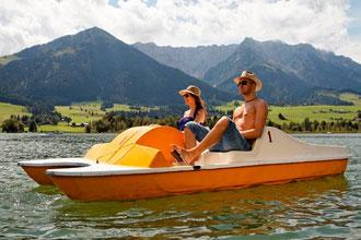 Bootfahren am Walchsee