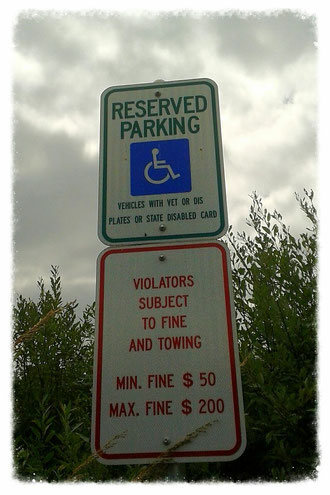 Reserved Parking (Behindertenparkplatz)
