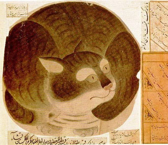 миниатюра с кошкой
