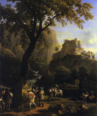 François 1er à la Fontaine de Vaucluse, Jean-Joseph-Xavier Bidauld, Musée Calvet, Avignon