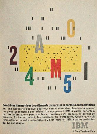 Publicité IBM sur les cartes perforées en 1959