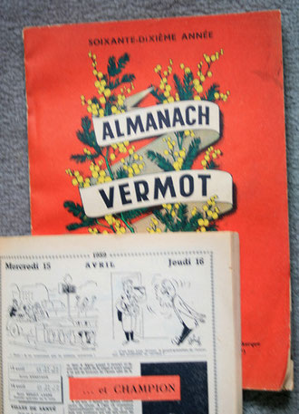 Dessin supposé humoristique sur les fous dans l'almanach Vermot