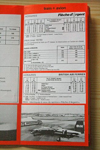 Brochure SNCF sur les différentes solutions de traversée de la Manche dans les années 70