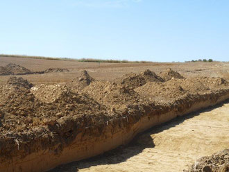 Les fouilles sur Etricourt - Equancourt. Photo Nathalie Deken