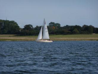 Segelboot auf der Schlei