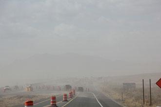 Foto Sandsturm unterwegs