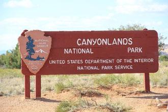 Foto: Einfahrt Canyonlands Nationalpark
