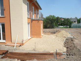 Terrasse zu Baubeginn