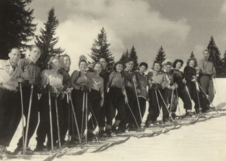 1948 Skigruppe am Obermeiselstein