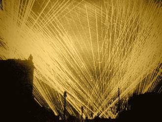 Flakscheinwerfer am Augustusplatz (Foto:CVB-Archiv)