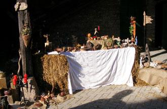 Marktstand Mittelaltermarkt Historischer Markt Keramik maori-design