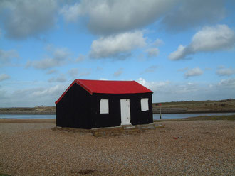 simple beach hut on the south coast