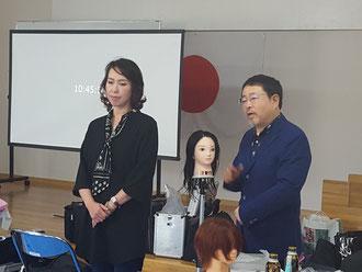荒木美智子中央講師(佐賀)を招いて、鹿児島早苗会の2019年5月期の講習会が開催された。(2019.5.13)