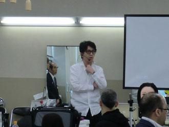 坂口拓也中央講師(鹿児島)を招いて、鹿児島早苗会の講習が開催された。(2018.4.2)