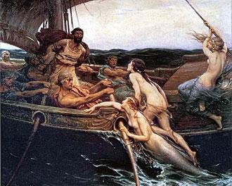 Odysseus und die Sirenen (H. Draper 1909)