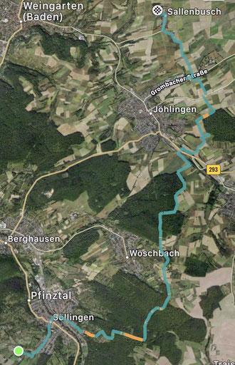 Unsere Strecke zum Quellberghof