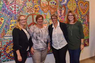 Team des Amtes für Touristik in der Rizzi-Ausstellung (Foto: Peter Wernig, Neumarkt4you)