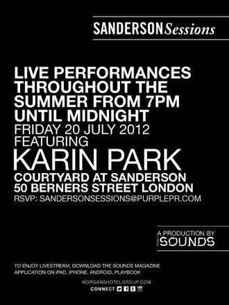 Karin Park | Sanderson Sessions