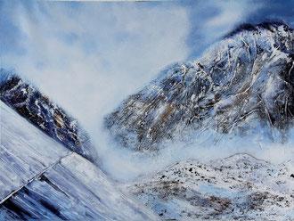 Gletscher, 50 x 70 cm