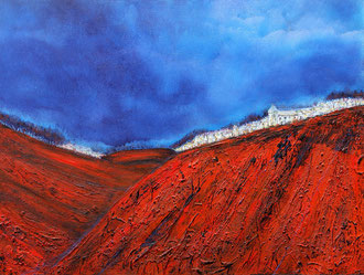 Rote Felswand, 50 x 70 cm