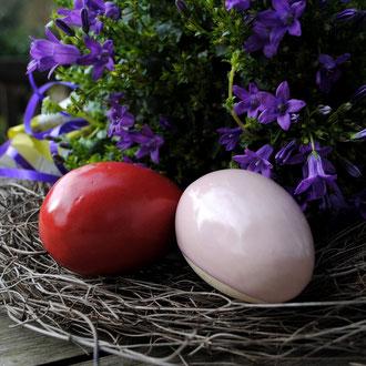Ostereier aus Keramik