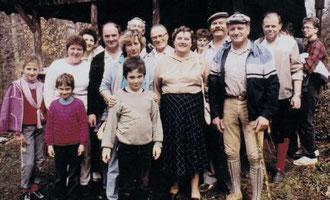 Familienwanderung im Donautal 1988