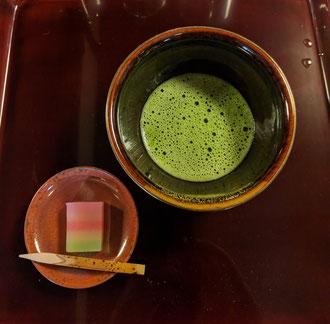 最後の甘味と抹茶